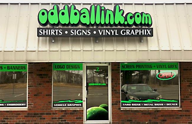 Oddball Ink Storefront in Arnold Missouri